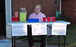 Pink Fund lemonade stand