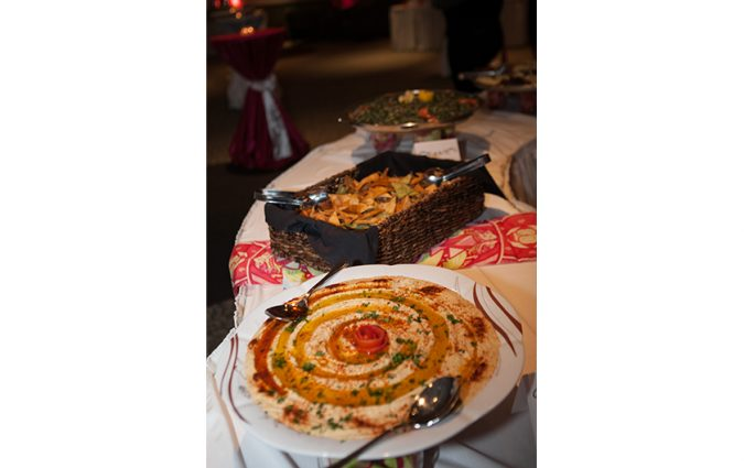dishes at the Pink Fund Dancing with the Survivors event