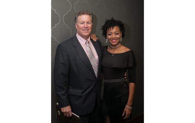 Pair at the Pink Fund Dancing with the Survivors event