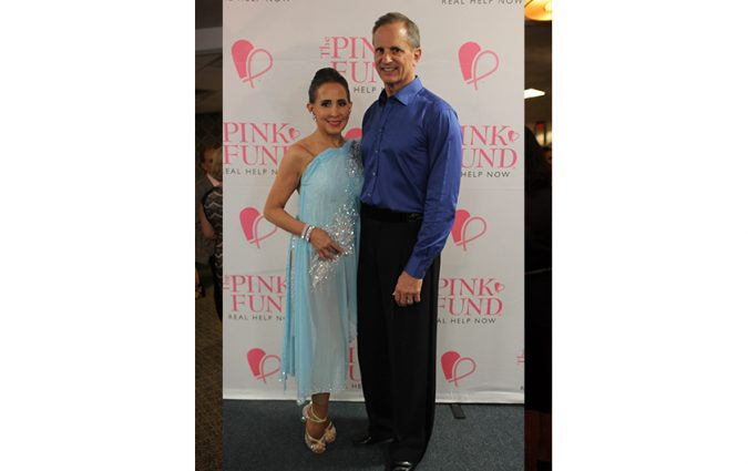 A pair at the Pink Fund Dancing with the Survivors event